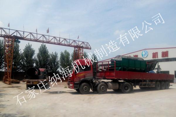 内蒙古赵总颗粒状有机肥设备装车发货